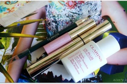 Clarins Spring 2015 Garden Escape: lip balm, crayon khol, wonder perfect mascara