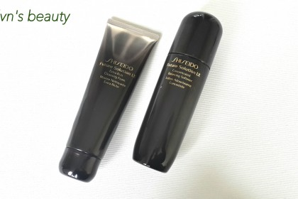 Shiseido Future Solution LX: extra rich cleansing foam / concentrated balancing softener