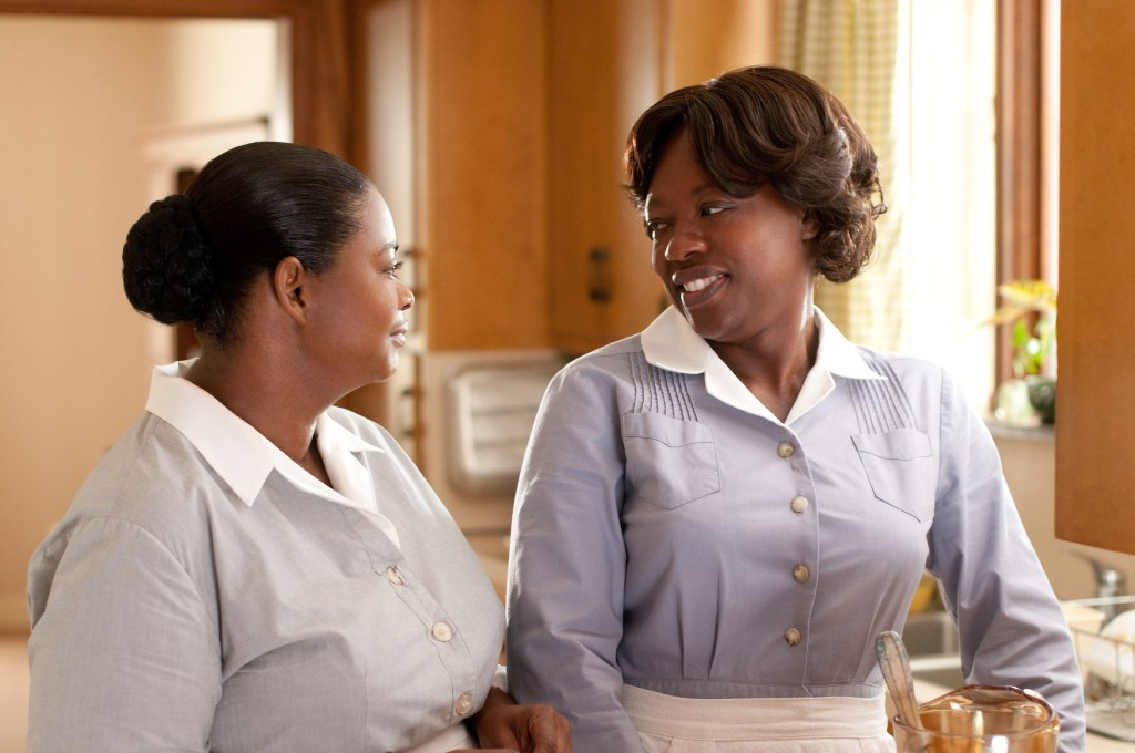 """THE HELP"" TH-076R Minny Jackson (Octavia Spencer, left) shares a laugh with her best friend Aibileen Clark (Academy Award® nominee Viola Davis, right), in DreamWorks Pictures' inspiring drama, ""The Help,"" based on the New York Times best-selling novel by Kathryn Stockett. ""The Help"" is written for the screen and directed by Tate Taylor, with Brunson Green, Chris Columbus and Michael Barnathan producing. Ph: Dale Robinette ©DreamWorks II Distribution Co., LLC.  All Rights Reserved."