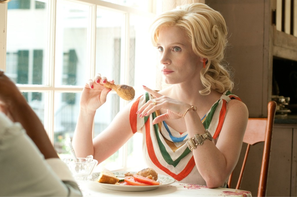 """THE HELP""..TH-359..Jessica Chastain stars as Celia Foote..Ph: Dale Robinette..©DreamWorks II Distribution Co., LLC. ÊAll Rights Reserved."