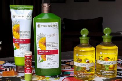 Yves Rocher: шампунь/кондиционер, массажные масла и бальзам для губ