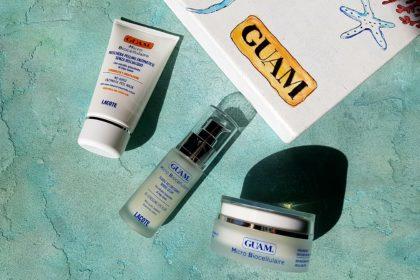 GUAM микроклеточные средства для лица: крем, сыворотка для глаз и энзимная маска