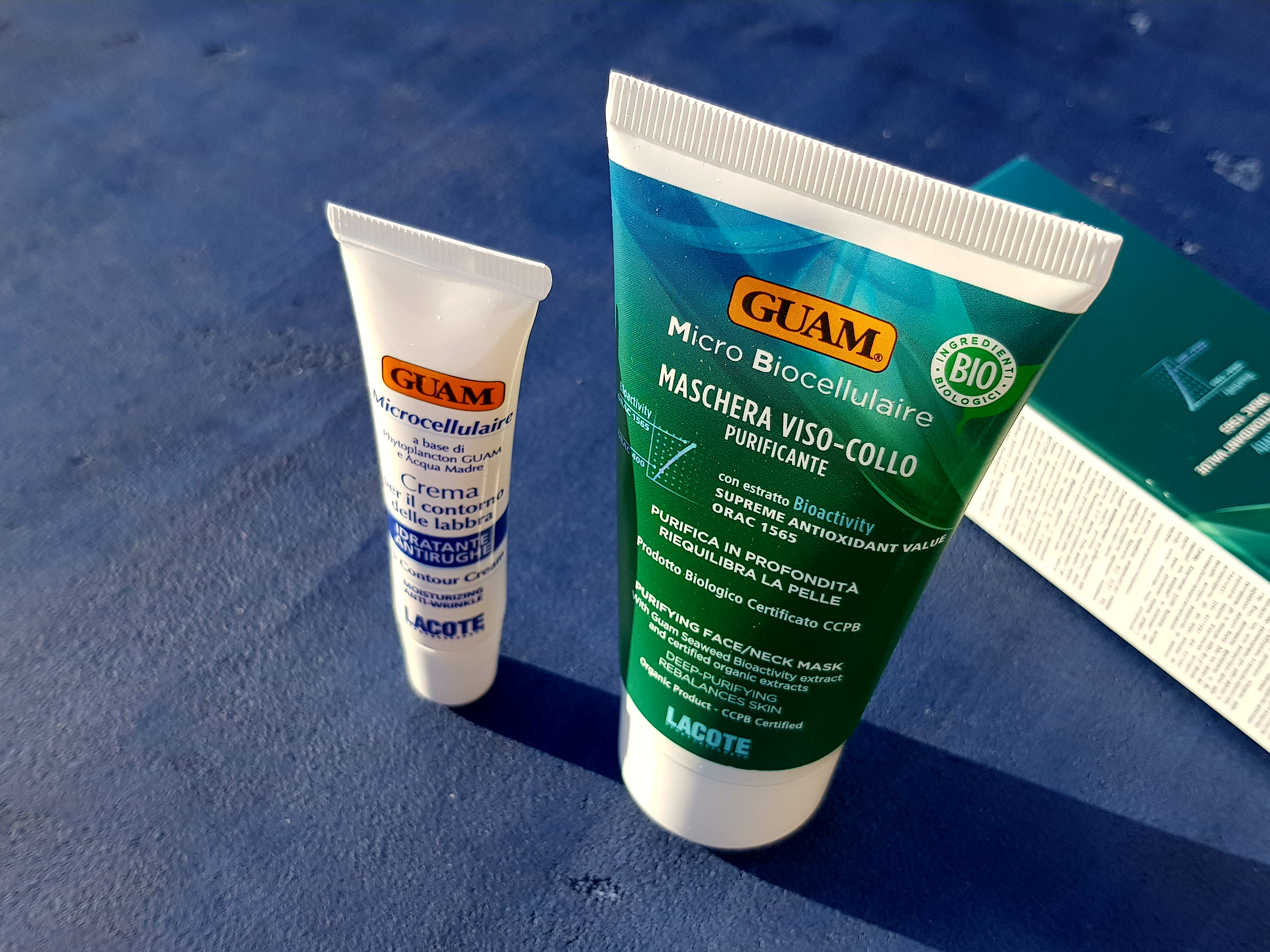 Guam Микробиоклеточный крем для контура губ & Микробиоклеточная очищающая маска